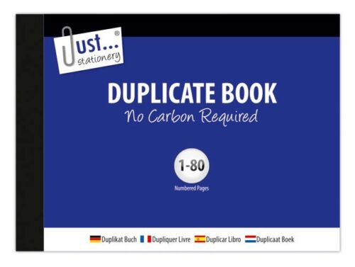 Blank Half Size Duplicate Receipt Book 1-80 Pages No Carbon Required 8006