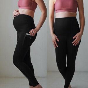 Maternity-Casual-Leggings-Seamless-Yoga-Sport-Pants-Stretch-Pregnancy-Trousers