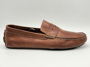 Cole-Haan-Brown-Leather-Moccasin-Slip-On-Penny-Loafers-Shoes-Men-s-US-10-M