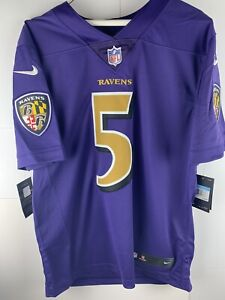 info for 4e27f 0e2d5 Details about $150 Stitched JOE FLACCO Nike Baltimore Ravens Mens Jersey  Medium Purple Limited