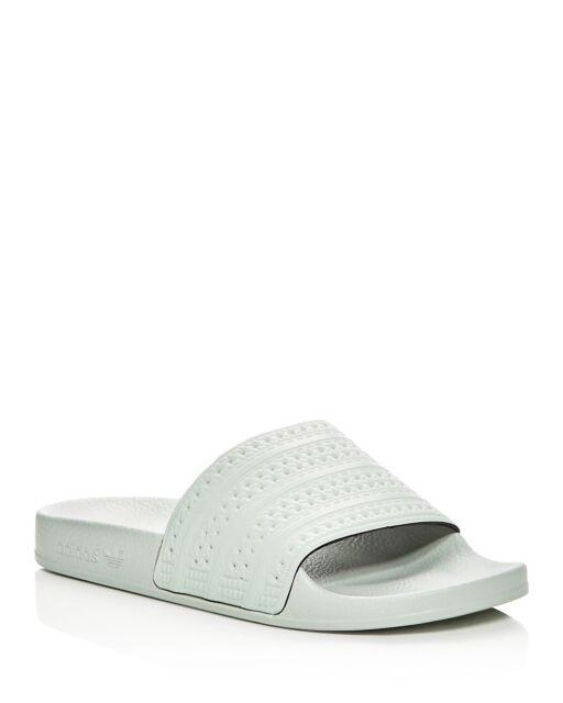 d9b1143b3260f1 Mens adidas Adilette Slides Linen Green BA7540 US 9 for sale online ...