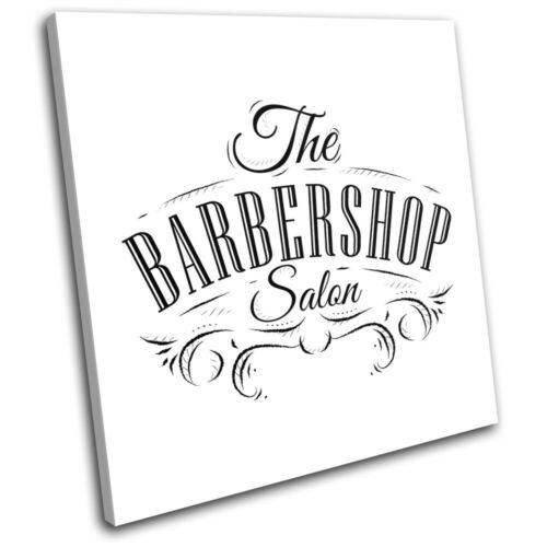 Hipster Male Grooming Barber Shop Urban SINGLE CANVAS WALL ART Picture Print