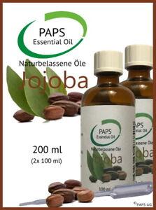 PAPS-Jojobaoel-200ml-2x-100ml-zertifiziertes-100-Natur-Ol-aus-Kaltpressung