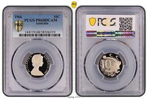 1966-10c-Australian-Ten-Cent-Coin-PCGS-PR68DCAM