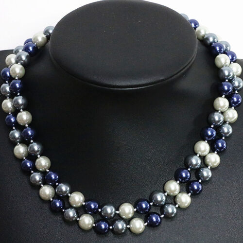 """Long 34/"""" 36/"""" 48/"""" 10 mm 12 mm South Sea Shell Pearl PERLES rondes Collier AAA"""