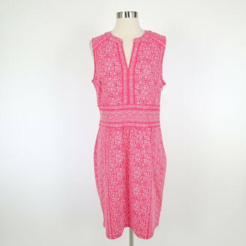 J. McLaughlin Lola Sheath Dress L Large Pink White