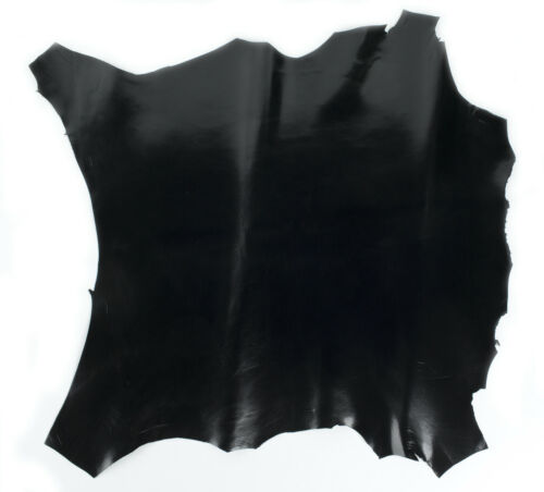 BLACK ITALIAN Goat Suede  leather hide skin hides