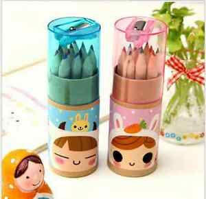 12pcs-Set-Assorted-Drawing-Stationery-Coloring-Pencils-Colouring-Colored-Kids-XN