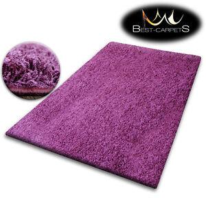 Détails sur Pas Cher Doux Tapis Poilu 5cm Violet Haute Qualité Nice en  Touche Beaucoup