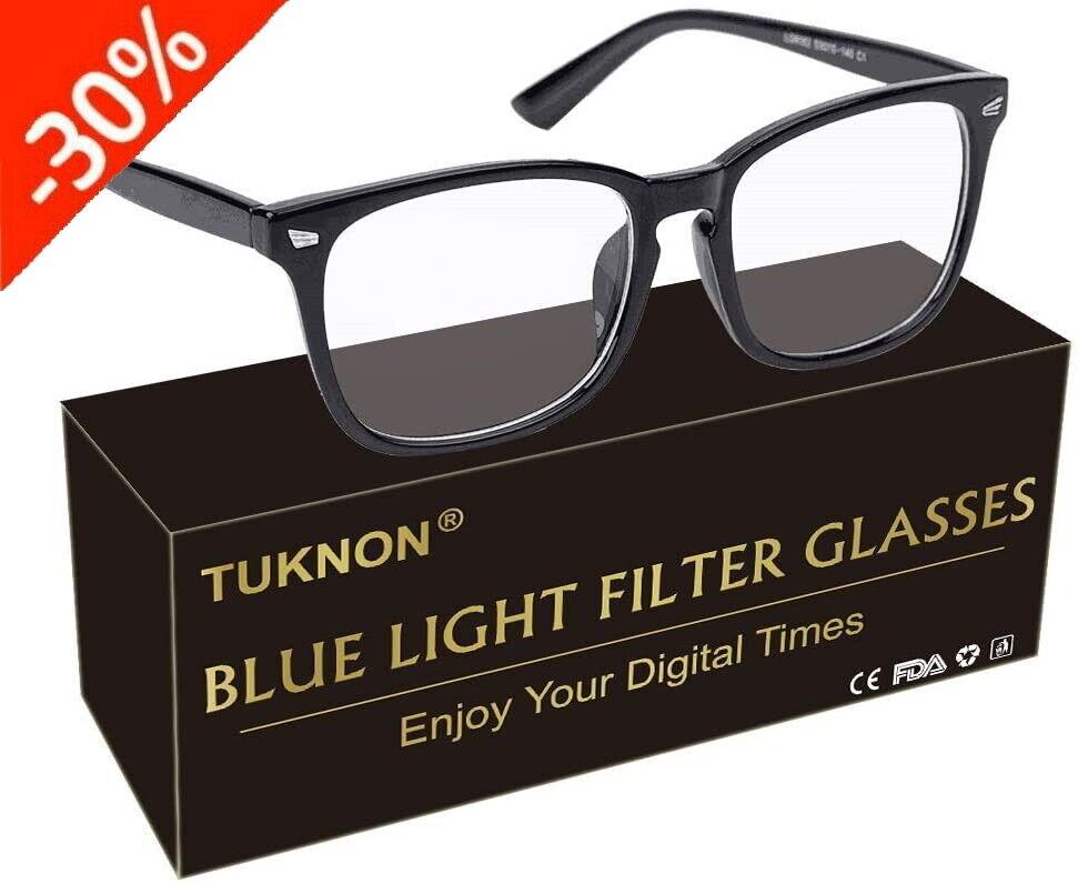 TUKNON Blaulichtfilter Game Computer Fernsehen Brille Anti Blaulicht Lesebrille