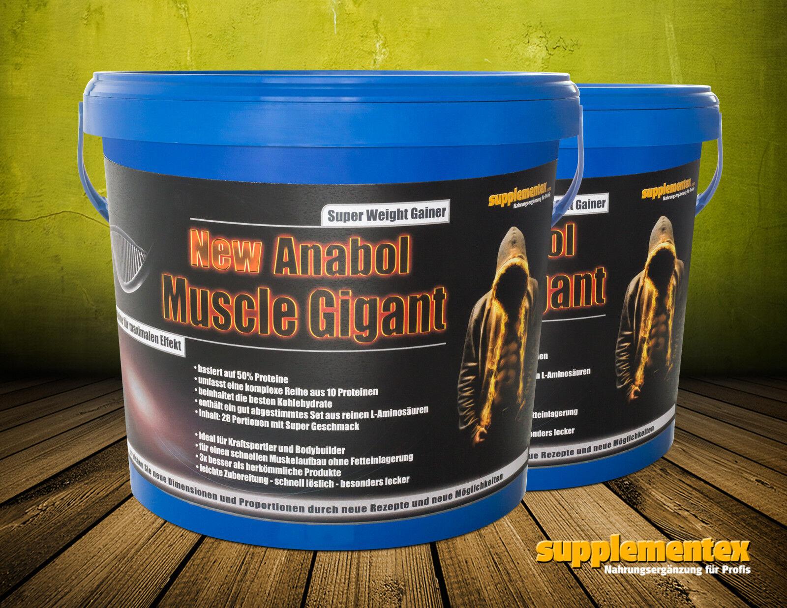 2x2,27kg New Eiweiss Anabol Muscle Gigant  Eiweiss New Anabol Muskelaufbau BCAA Gainer Masse 87eaf1