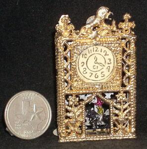 Zabawki Clock New Pour in Antique Stone Mold #MP824 Mexican Dollhouse Miniature Dekoracje