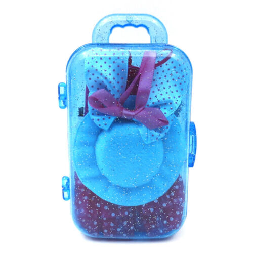 Doll Accessories Travel Suitcase With Dress Hat Shoe Jewelry Set For  SP