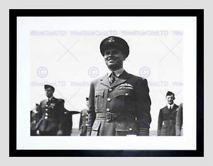 VINTAGE MILITARY WAR WWII DAM BUSTER GUY GIBSON FRAMED ART PRINT MOUNT B12X3736