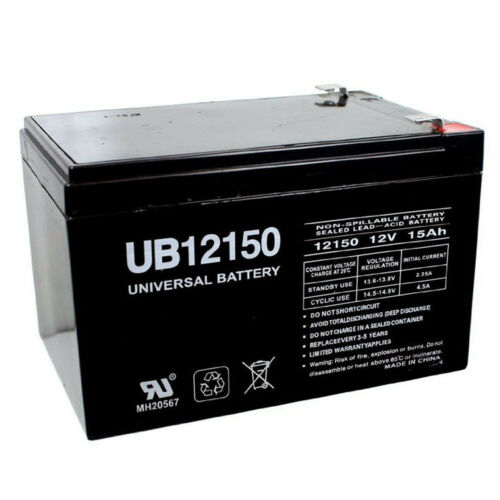 UPG 12V 15AH Replaces Battery for Kung Long WP14-12E 12V 1Amp Charger
