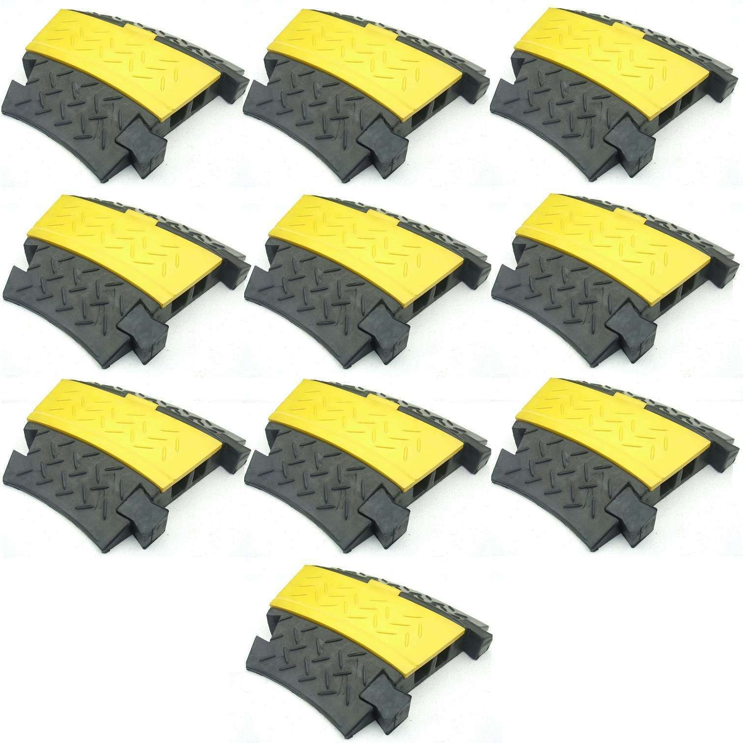 Sonstige Baustellengeräte & -ausrüstung SchöN 4x 3 Kanal Kabelbrücke Lkw Überfahrrampe Kabelkanal Überfahrschutz Kabelschutz 100% Garantie