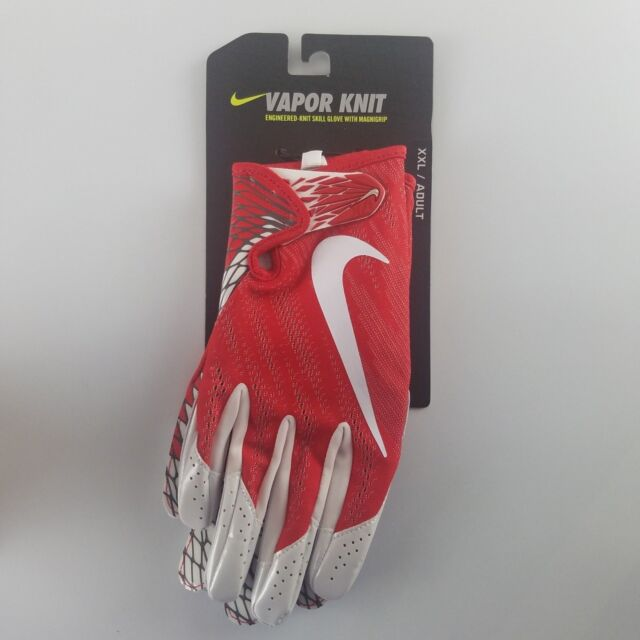 Nike Vapor Knit Football Gloves Mens XXL Red White Gf0571 657 ... 060f78367