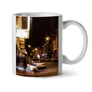 Street Life Night City NEW White Tea Coffee Mug 11 oz | Wellcoda