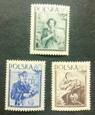 POLAND STAMPS MNH 1Fi701-03 Sc614-16 Mi839-41 - Woman's Day,1954,clean