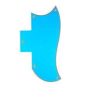 Inventif 3 Plis Qualité Pickguard Pour Sg Standard Guitare-bleu-a85-afficher Le Titre D'origine