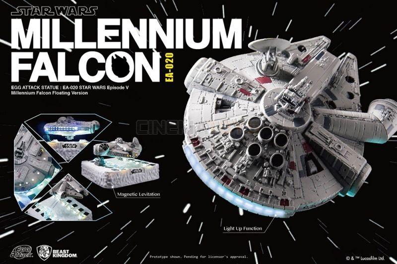 STAR WARS Millennium Falcon Magnetic Floating Version Beast Kingdom FLUTTUANTE