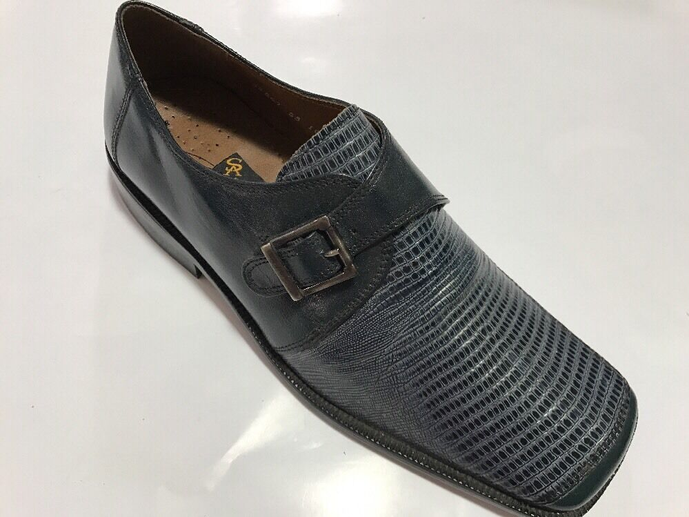 servizio premuroso Uomo Dress scarpe STACY ADAMS ADAMS ADAMS Leather,slip on, blu Medium Width ,Buckle New&BX  moda