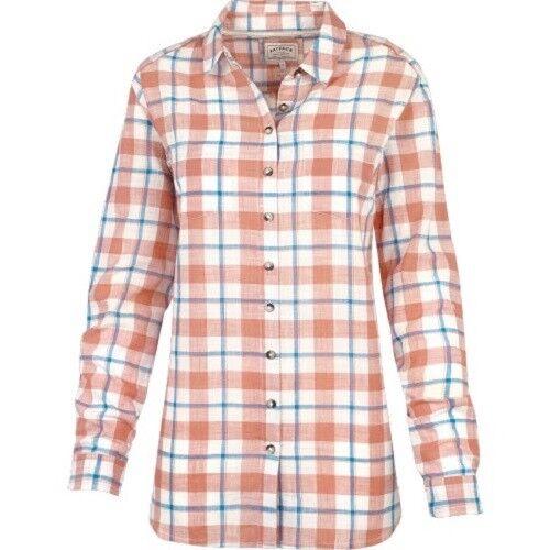 100/% Cotton Orange Fat Face Boyfriend Check Shirt BNWT Women/'s
