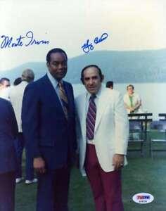 Yogi-Berra-Monte-Irvin-Psa-Dna-Coa-Autograph-8x10-Photo-Hand-Signed-Authentic