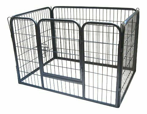 Puppy Play Pen Rabbit Enclosure Heavy Duty Metal Small Dog Whelping Cage Folding