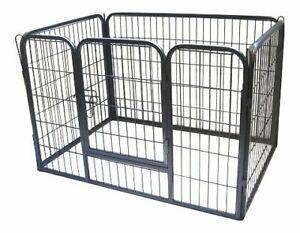 Chiot jouer stylo lapin clôture en métal robuste petit chien mise bas de cage pliage