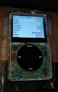 iPod-Classic-Video-5TH-GEN-ENH-WOLFSON-80GB-512GB-SSD-UPGRADE-3000mAh-CLEAR
