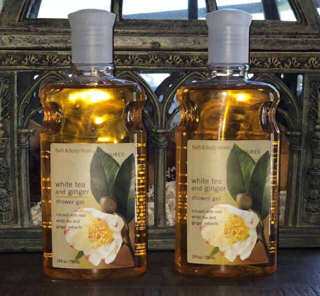 Bath & Body Works (Qty 2) WHITE TEA And GINGER Shower Gel