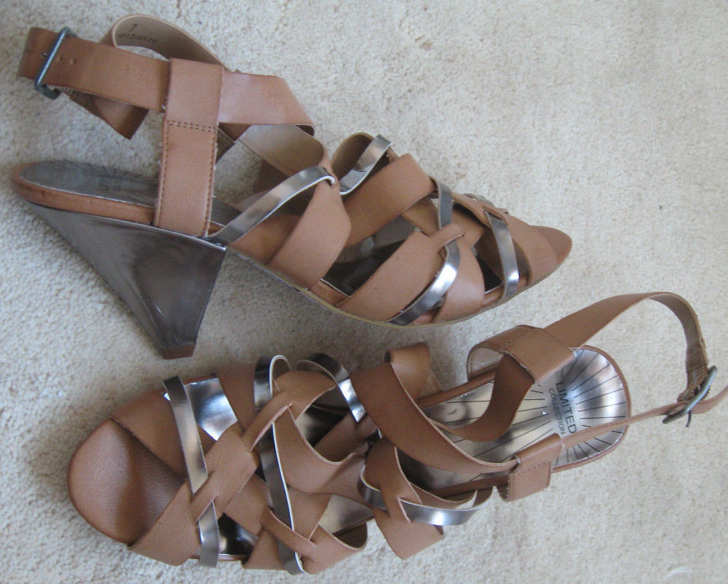 Marks & Spencer Beige Straps Low Heel Sandals Shoes (NEW) Sizes 5.5 or 7-£29.50