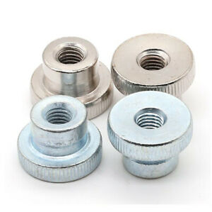 Details about  /M3-M10 Zinc-Plated Knurled Thumb Nuts High-type Hand Grip Knobs Nut,Through Hole