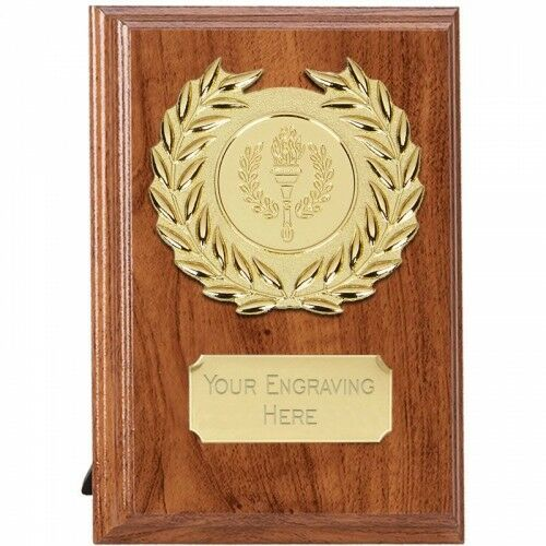 Wessex Walnut Plaque in 3 Sizes,Free Engraving up to 30 Letters