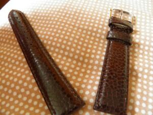 18 Mm Elegant Armband Braun Kalb Genarbt Super Verschluss Qualität Prix
