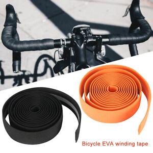 2X-antiscivolo-Rotolo-Nastro-Spugna-manubrio-bicicletta-bici-anti-scivolo-sudore
