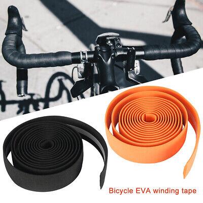 2Pcs Bike Cycling Road Bike Sports Bicycle Cork Handlebar Rubber Tape Wrap 2 Bar