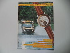 advertising Pubblicità 1990 CAMEL TROPHY WATCH MULTICHRONO e LAND ROVER