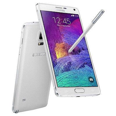 "NEW Samsung Galaxy Note 4 N9100 (FACTORY UNLOCKED) 5.7"" QHD , 16GB , 16MP  WHITE"