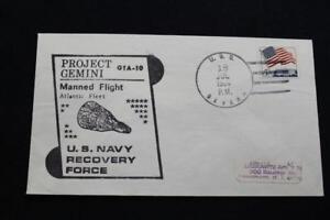 Naval-Espace-Housse-1966-Gemini-GTA-10-Recuperation-Bateau-Uss-Severn-AO-61