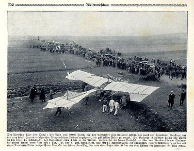 In 2019 New Style Erstflug über Den Kanal Latham Ws Blériot Aeroplan Lathams Probeflug Von 1909 Fragrant Flavor