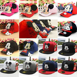 Toddler-Boys-Girls-Disney-Mickey-Mouse-Snapback-Sun-Hats-Kids-Baseball-Peak-Caps