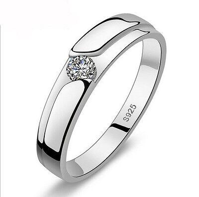 Cocktail Jewelry Men Women White Topaz Gemstones 925 Silver Wedding Ring Sz 5-11