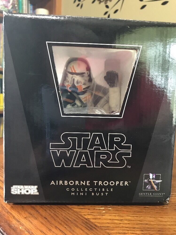 Gentle Giant Star Wars Airborne Trooper Collectible Mini Bust 2168 3000