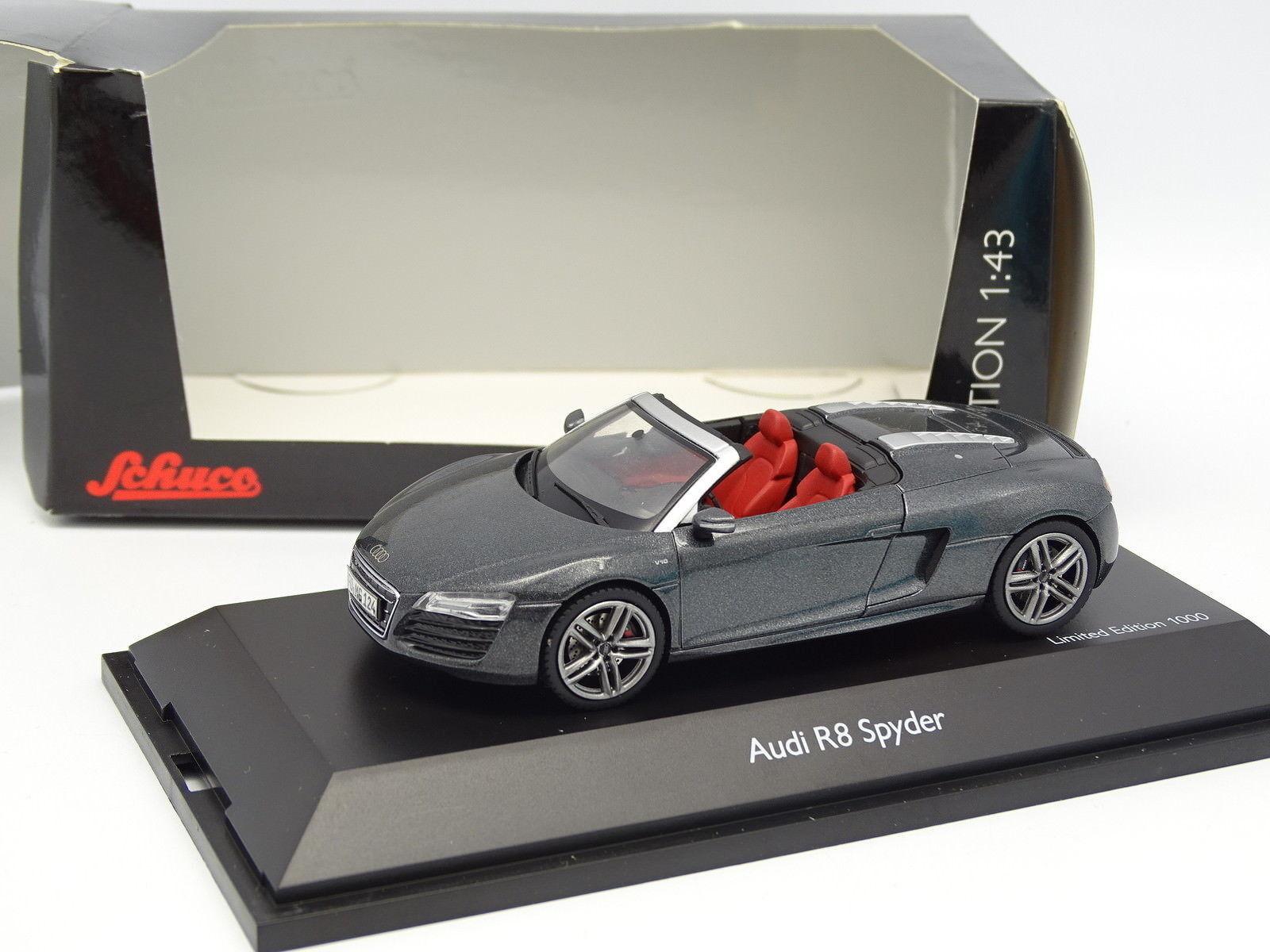 Schuco 1 43 - Audi R8 Spyder Antracita 2011