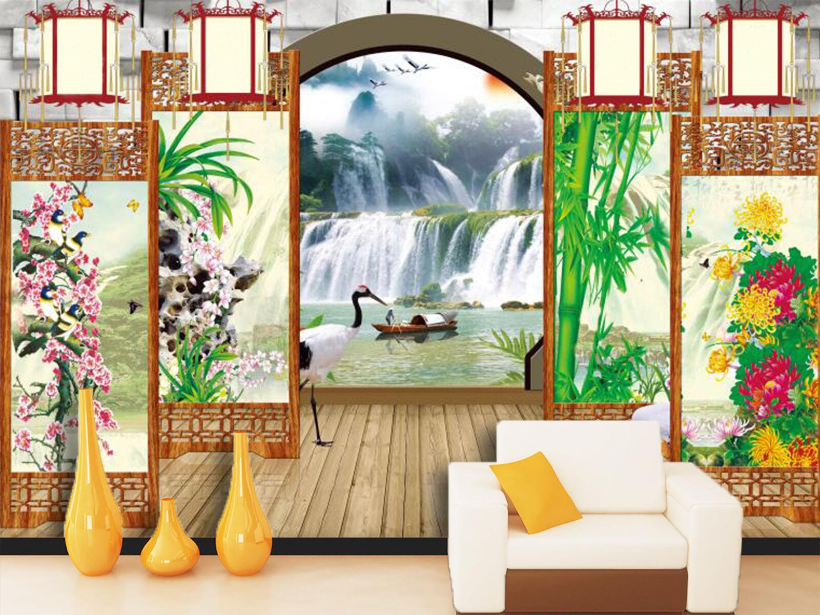 3D Garden Plants 88 Wallpaper Mural Paper Wall Print Wallpaper Murals UK