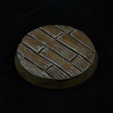 32mm (5) Wood Plank Custom Scenic Resin Miniature Base Fantasy Warhammer 40k