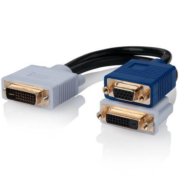 ALOGIC DVI-I (M) to DVI-D (F) and VGA (F) Video Splitter Cable DVI-I-DVIVGA-M AU