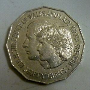 Australia-50-cents-1981-034-Royal-Wedding-034-KM-72-Cupro-Nickel-039-Nice-Details-039
